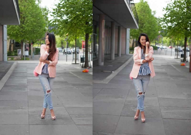 260415_Zara Blazer, Ripped Jeans